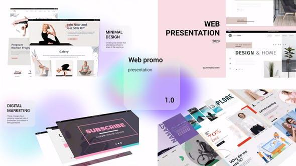 Videohive Web Promo Minimal Transparency 29506750