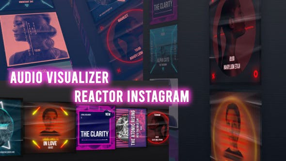Videohive Audio Visualizer Reactor Instagram 29345425
