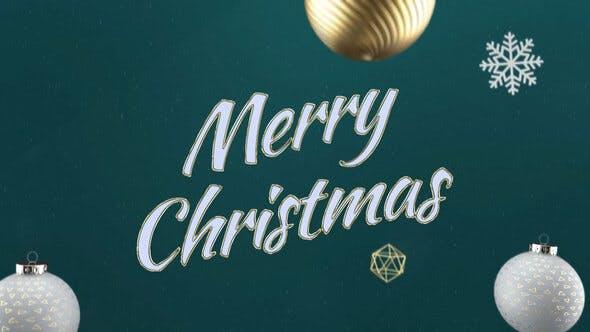 Videohive Elegant 3D Christmas Intro 29626091