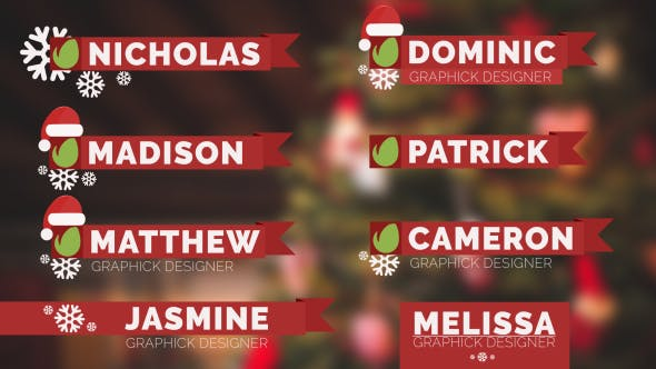 Videohive Christmas Lower Thirds 14061269