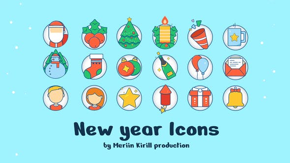 Videohive New Year Icons 29575469