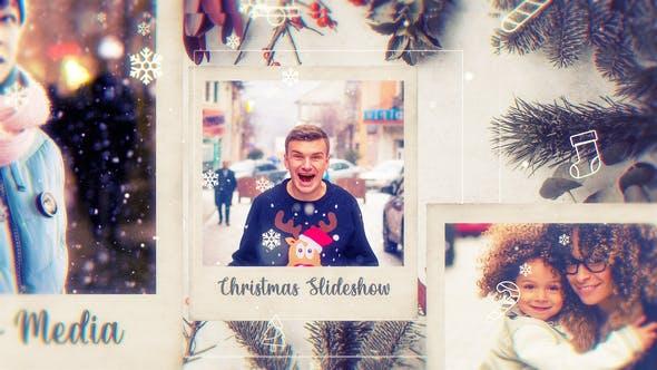 Videohive - Christmas Photo Frame // Parallax Slideshow - 29573049