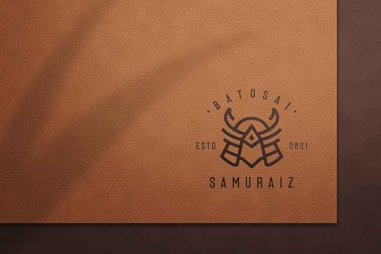 leather logo mockup D6BSNRW