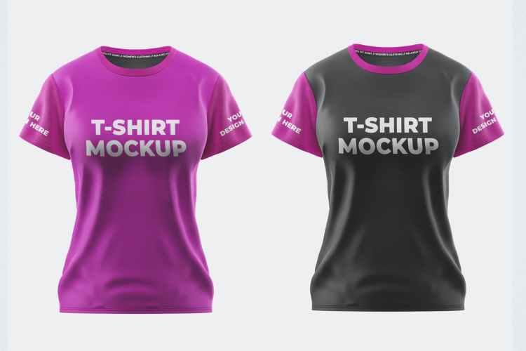 Women Sport T-Shirt Mockup Template MKF7TJH