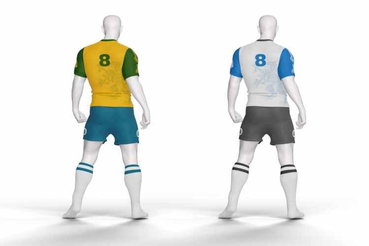 Football Kit T-Shirt Mockup TLB4UUH