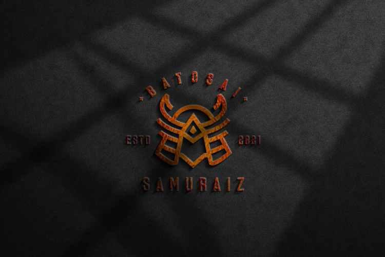 3d wall logo mockup UUM87AH