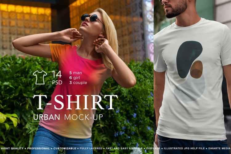 T-Shirt Mock-Up Urban Style vol.3 BN7AYVR
