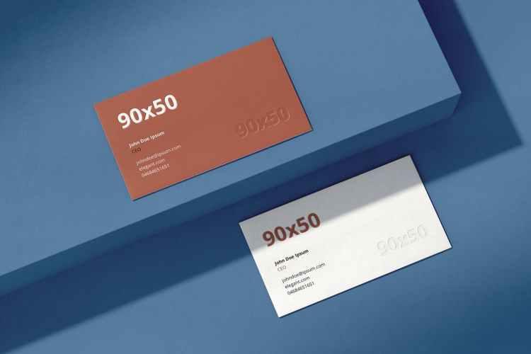 Business Card Mockup Scenes 90x50 XBYRCKU
