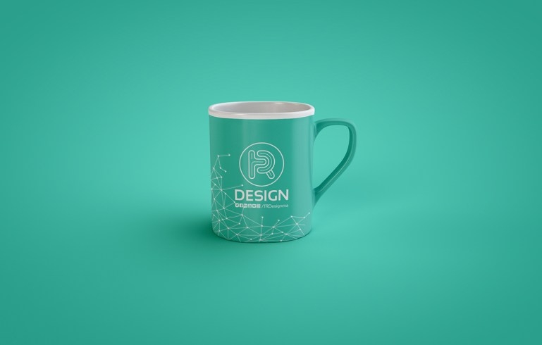 Free PSD mock-up of a classic coffee mug