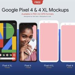 Free Google Pixel 4 & 4 XL Mockup PSD