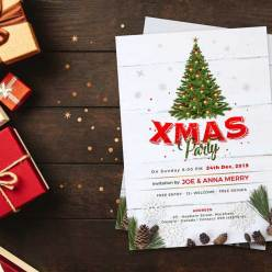 Free Christmas Party Flyer Design Template 2019 in PSD