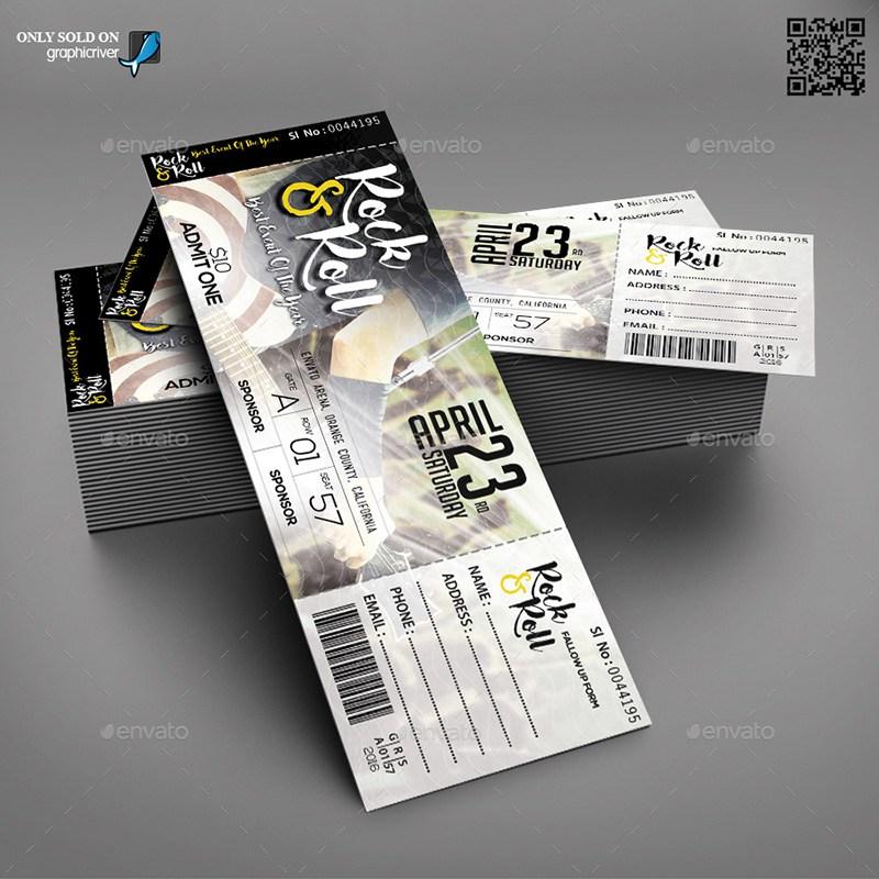 20 Best EventConcert Ticket PSD Templates
