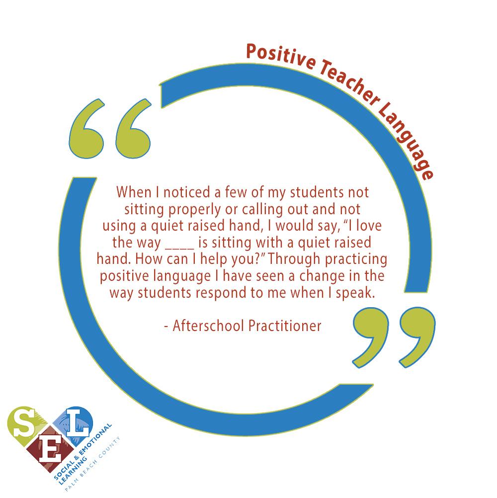 Positive Teacher Language 1
