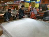 Lots and lots of rice is available at the store.