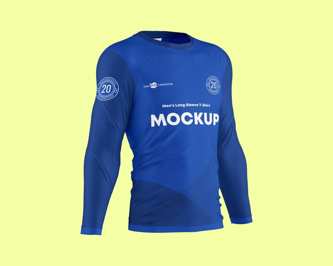Download 36+ Long Sleeve Soccer Jerseys T Shirts Mockup Template ...