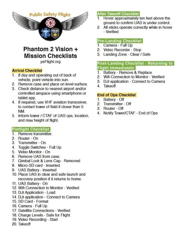 DJI Checklist