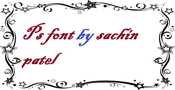 Ps font by sachin patel
