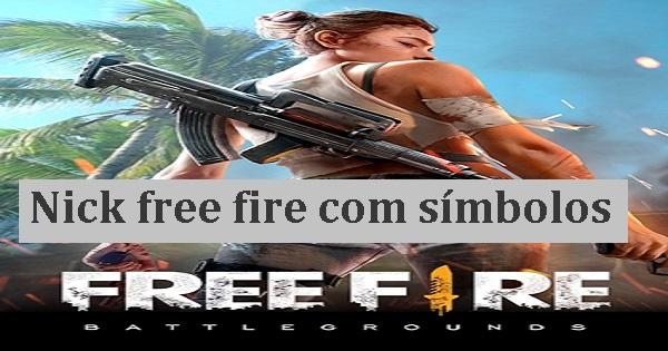 Nick free fire com símbolos