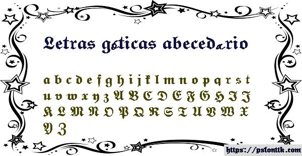 Letras góticas abecedário