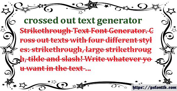 crossed out text generator
