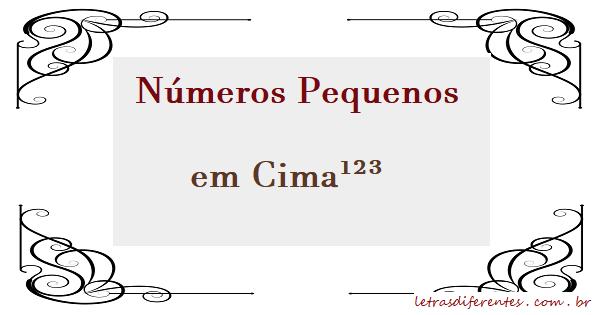 Números Pequenos Em Cima