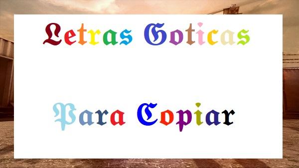 Letras Goticas Para Copiar