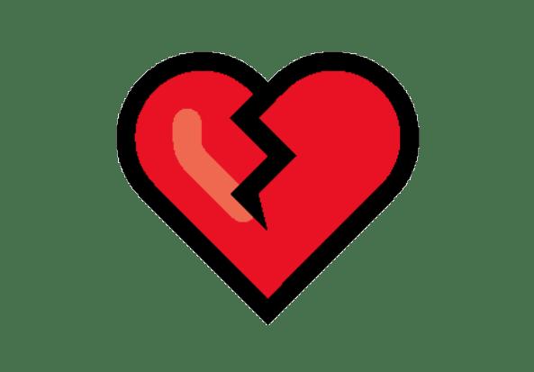 Emoji De Coração coração partido PNG