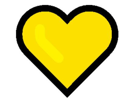 Yellow heart emoji PNG transparent