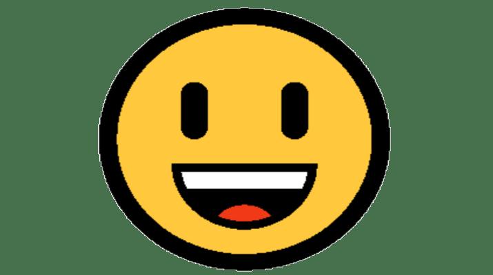 Emoji Rosto Sorridente com Boca Aberta