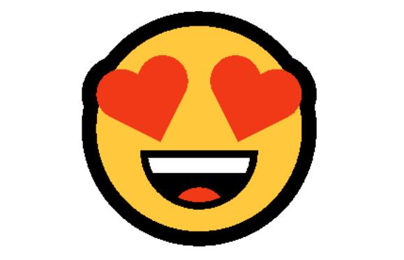 Emoticon com Coração nos olhos Significado