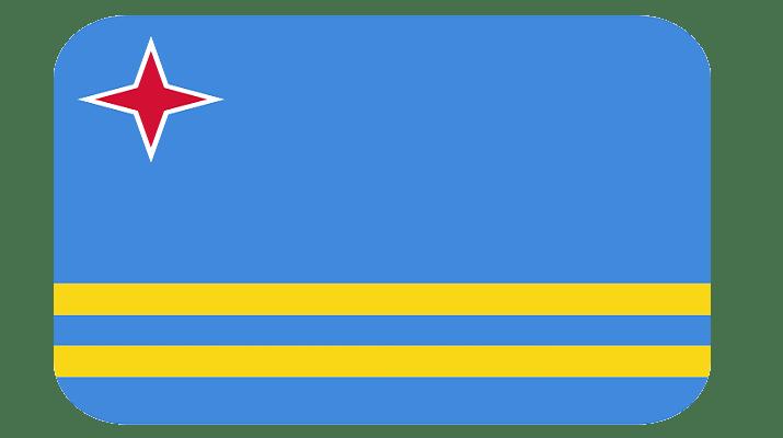 bandera de Aruba PNG