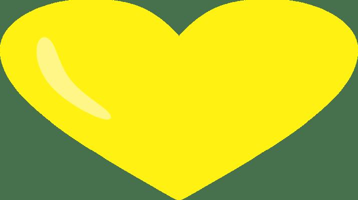 coração amarelo PNG Transparente