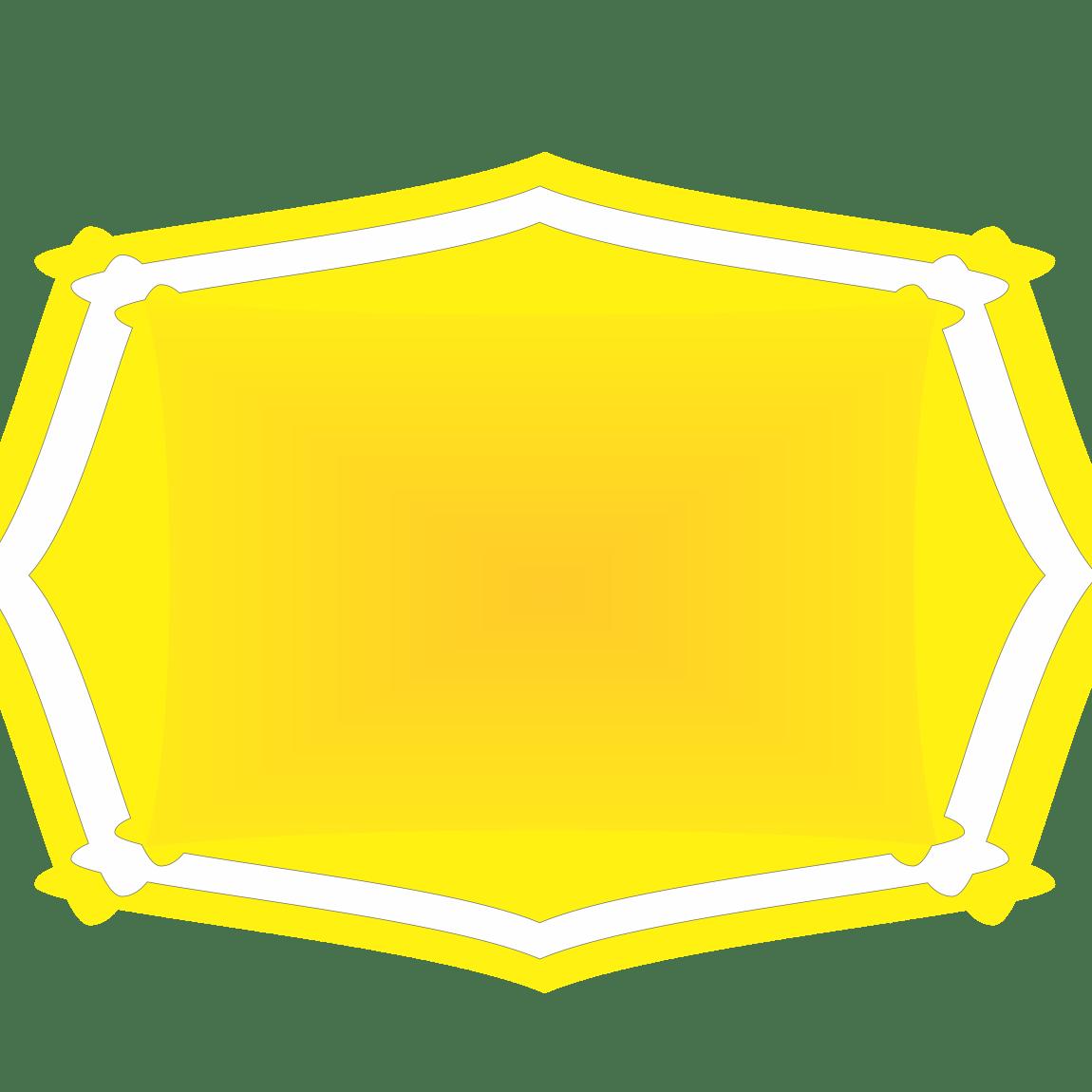 frame amarelo png