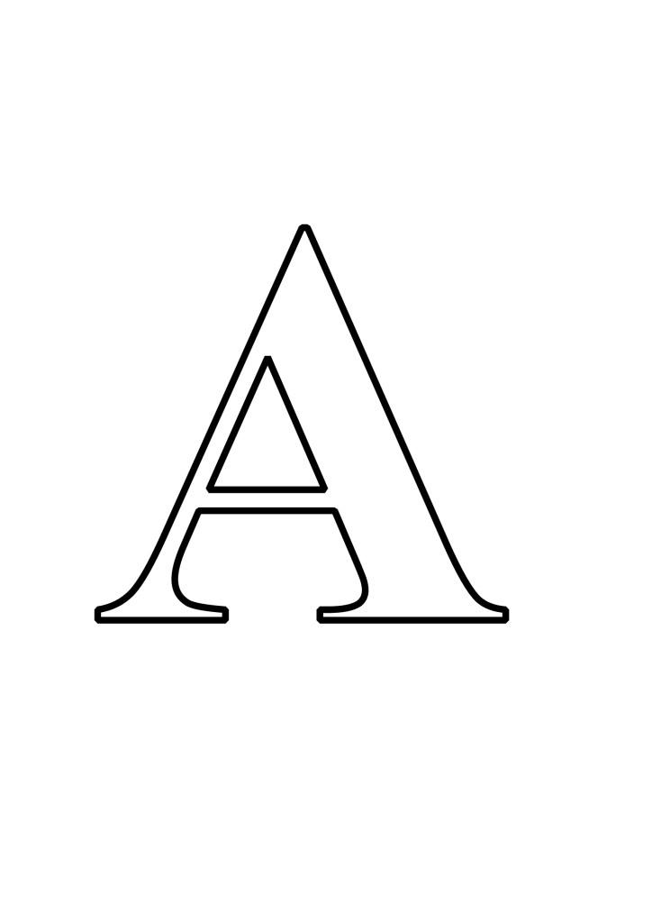 Letras A Para Imprimir