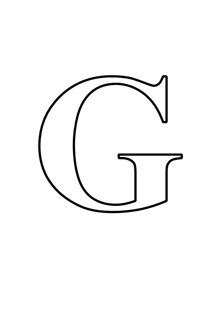 Letras G Para Imprimir