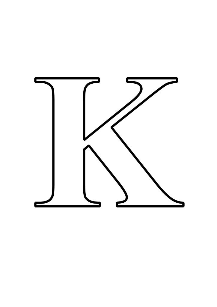 Letras K Para Imprimir