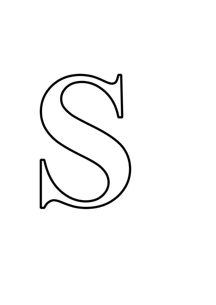 Letras S Para Imprimir