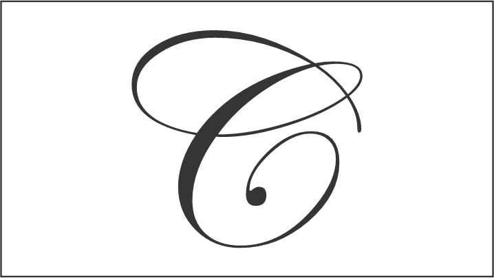 cursive letter c