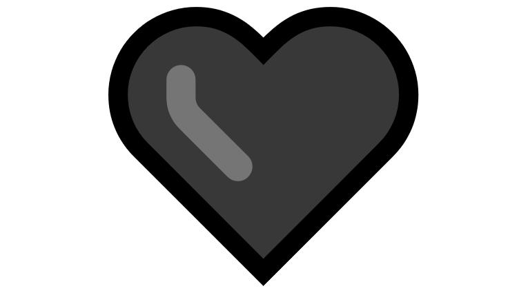 Coração Emoji PNG 🖤