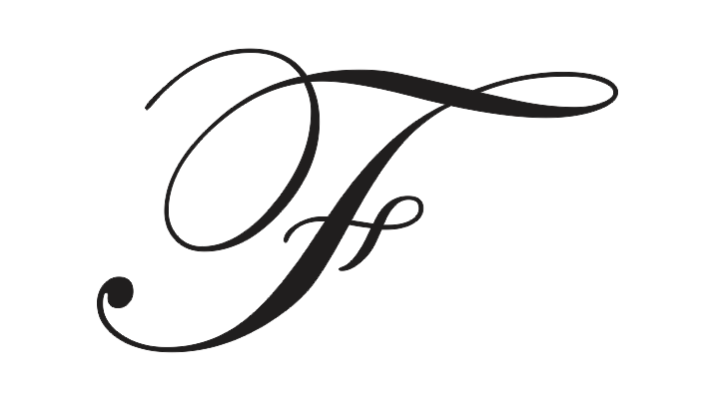 capitalized cursive f
