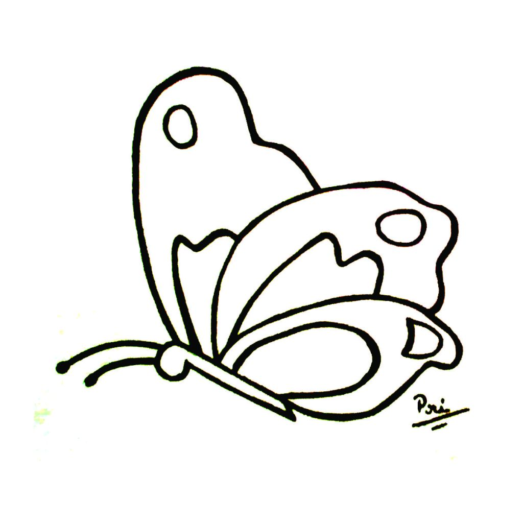 borboleta desenho para colorir