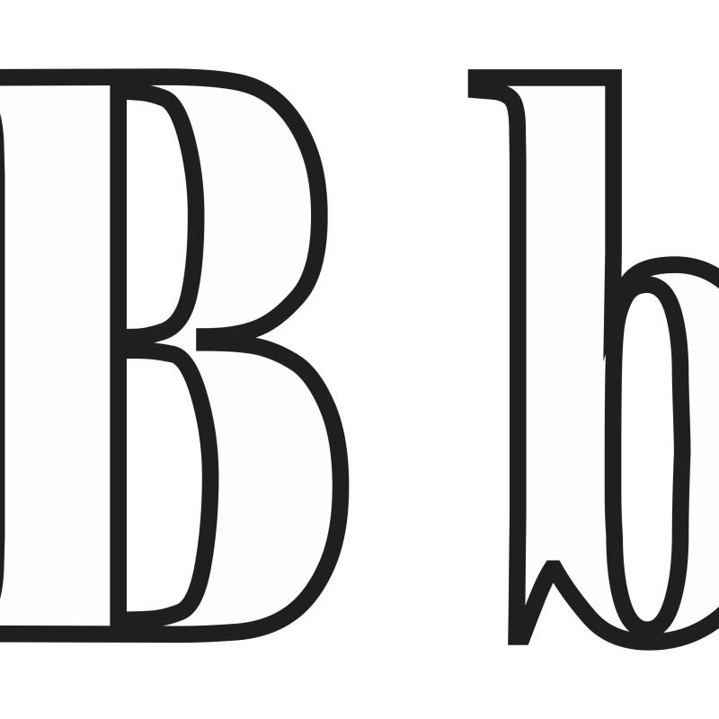 Molde de Letras b