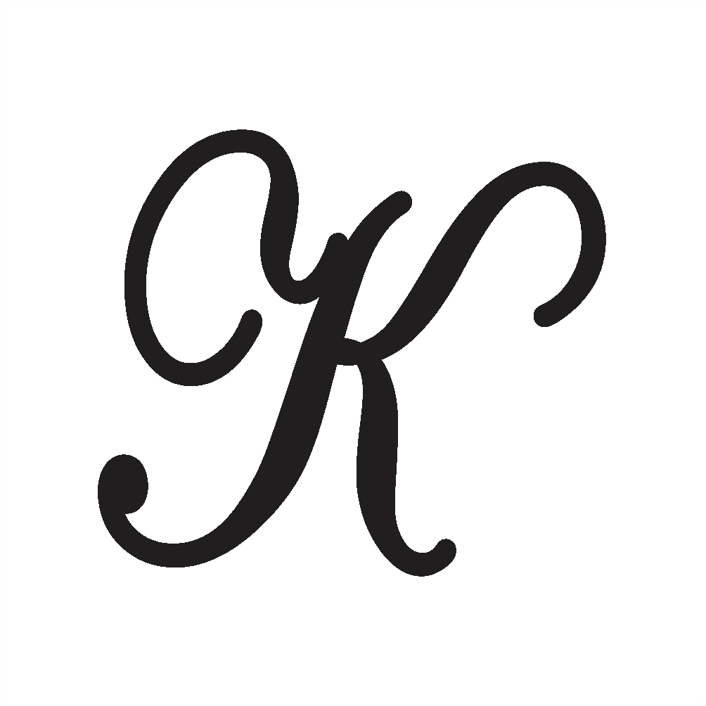 capital k in cursive writing