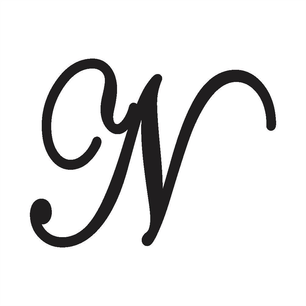 cursive n capital