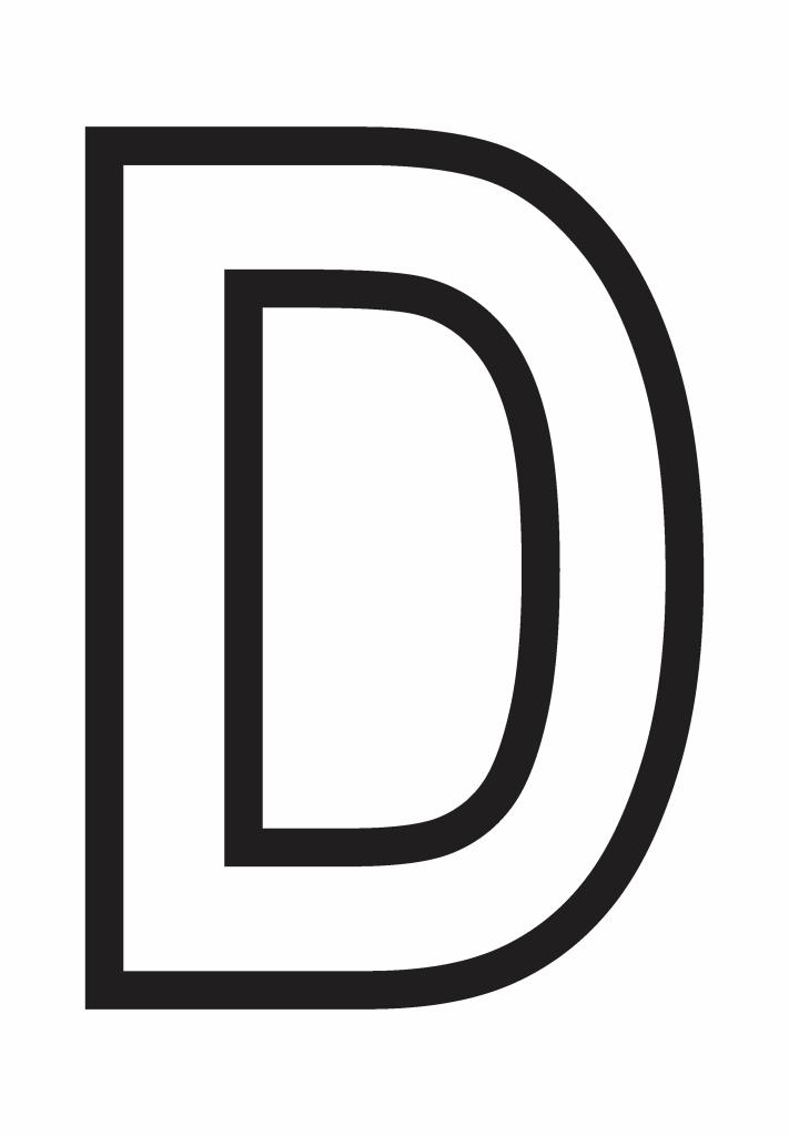 letter d printable, letter d template