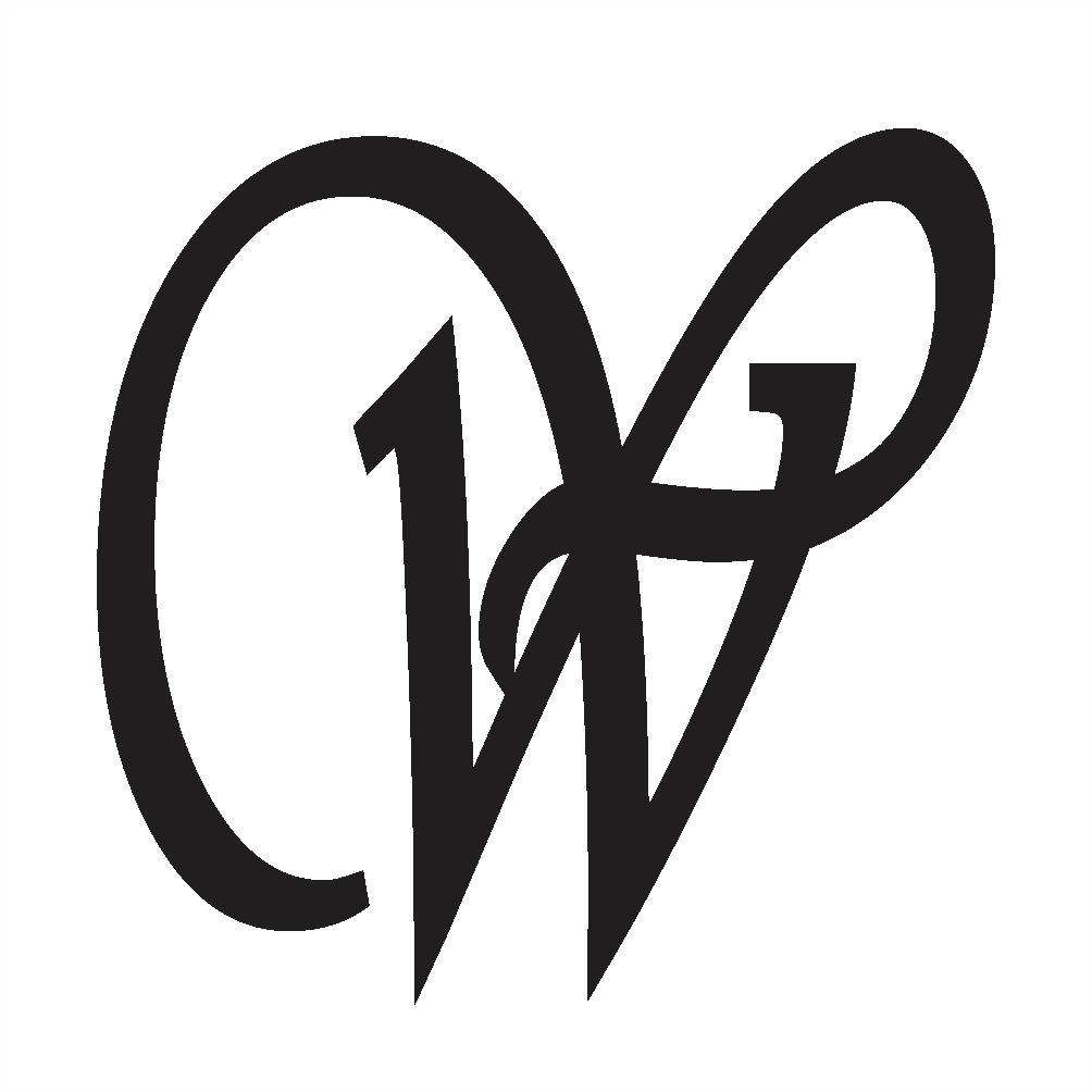 uppercase w in cursive
