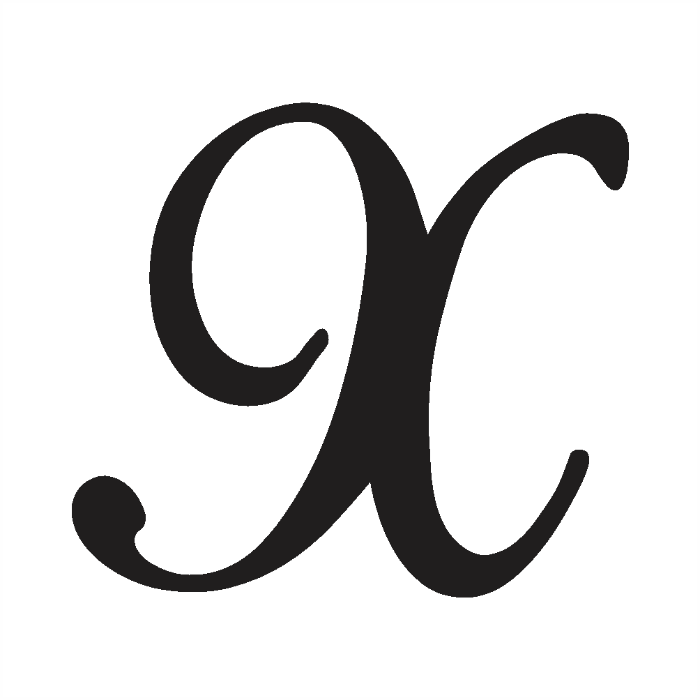 uppercase x in cursive