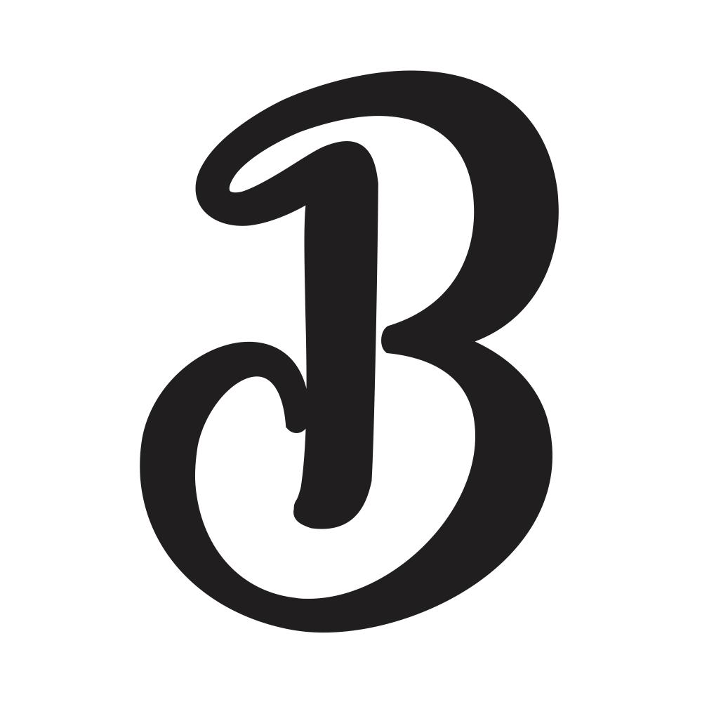 b Cursive