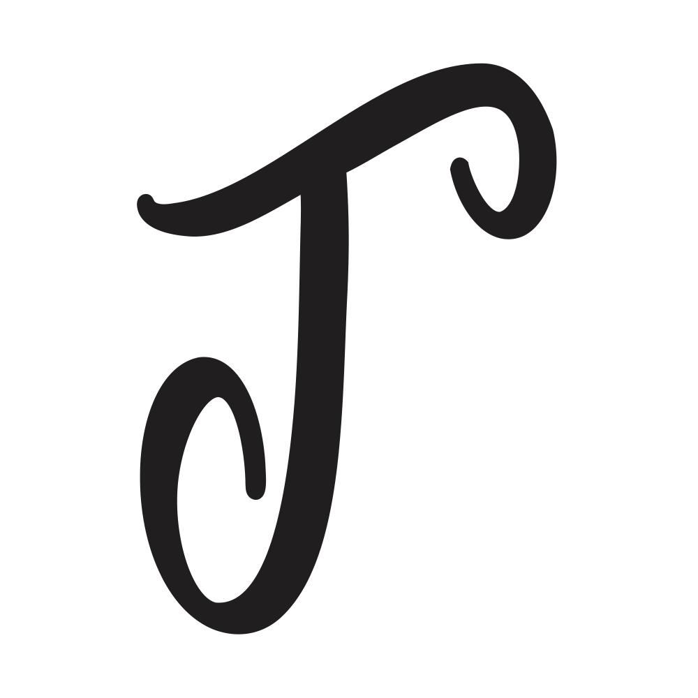 capital cursive t