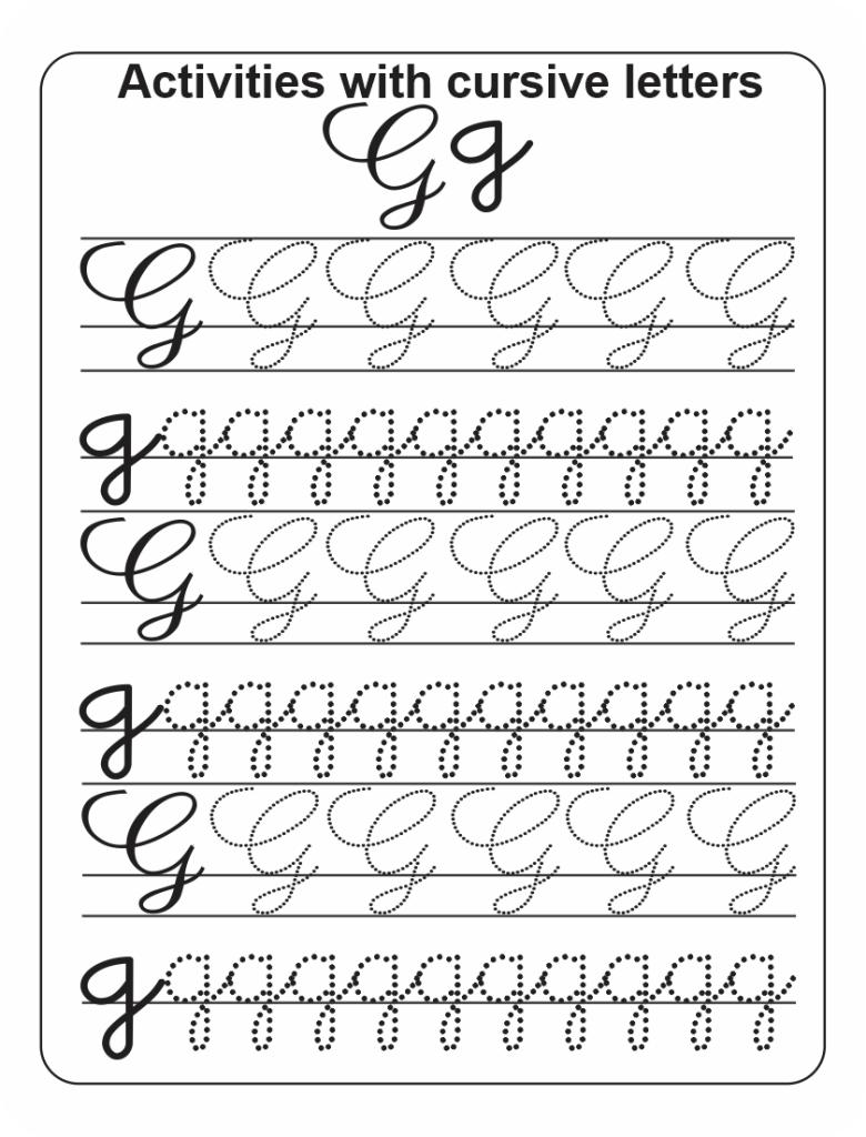 how to write a Cursive G
